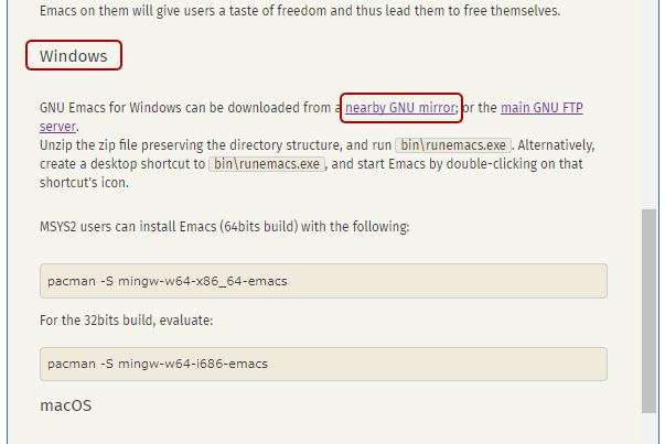 GNU EmacsをダウンロードしてWin...